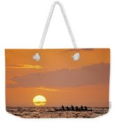 Canoeing At Sunset Weekender Tote Bag