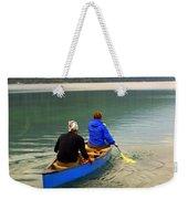 Canoeing Glacier Park Weekender Tote Bag