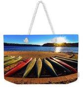 Canoes At Sunset Weekender Tote Bag