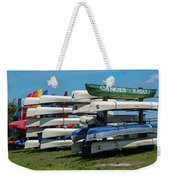 Canoes Cascaded Weekender Tote Bag