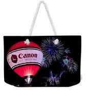 Canon - See Impossible - Hot Air Balloon With Fireworks Weekender Tote Bag