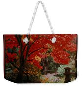 Canopy Of Red Weekender Tote Bag