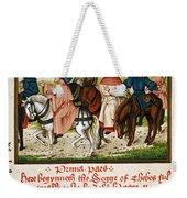 Canterbury Pilgrims Weekender Tote Bag