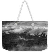 Canyon In Clouds Bw Weekender Tote Bag