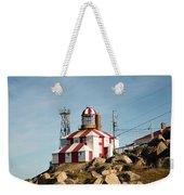 Cape Bonavista Lighthouse, Newfoundland, Canada Old And New Lamp Weekender Tote Bag