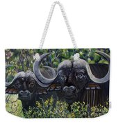 Cape Buffalo First Painting Weekender Tote Bag