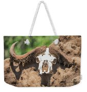 Cape Buffalo Skull Weekender Tote Bag