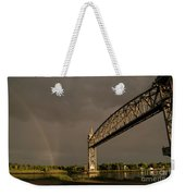 Cape Cod Train Bridge With Rainbow Weekender Tote Bag