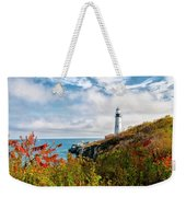 Cape Elizabeth Maine - Portland Head Lighthouse Weekender Tote Bag
