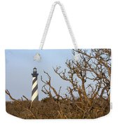 Cape Hatteras Lighthouse Through The Brush Weekender Tote Bag