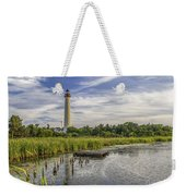 Cape May Lighthouse From The Pond Weekender Tote Bag