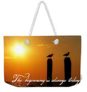Cape May Morning Quote Weekender Tote Bag