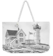 Cape Neddick Light House Drawing Weekender Tote Bag