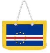 Cape Verde Flag Weekender Tote Bag
