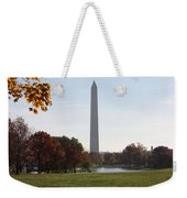 Capital Autumns - The Washington Monument - Under The Trees Weekender Tote Bag