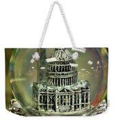Capital Snow Globe  Weekender Tote Bag