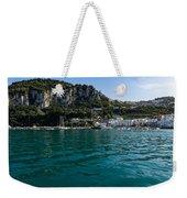 Capri Island Silky Smooth Emerald And Aquamarine Weekender Tote Bag