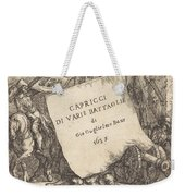Capricci Di Varie Battaglie (title Page) Weekender Tote Bag