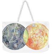 Capricorn Sagittarius Weekender Tote Bag