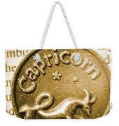 Capricorn Zodiac Lucky Charm Weekender Tote Bag