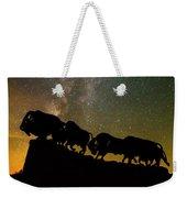 Caprock Canyon Bison Stars Weekender Tote Bag