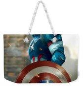 Captain America With Helmet Weekender Tote Bag