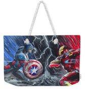 Captain American Vs Ironman Weekender Tote Bag