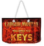 Captain Morgan Welcome Florida Keys Weekender Tote Bag