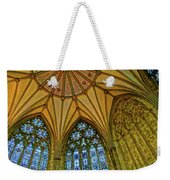 Chapter House Ceiling, York Minister Weekender Tote Bag