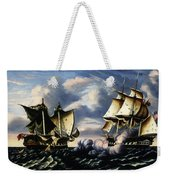 Capture Of H.b.m. Frigate Macedonian By U.s. Frigate United States, October 25, 1812  Weekender Tote Bag