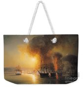 Capture Of The Fort Of Saint Jean Dulloa On 23rd November 1838 Weekender Tote Bag by Jean Antoine Theodore Gudin
