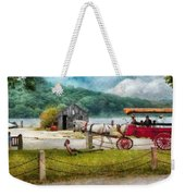 Car - Wagon - Traveling In Style Weekender Tote Bag