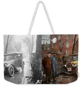 Car Accident - Watch For Ice 1921 - Side By Side Weekender Tote Bag