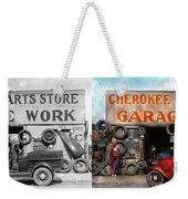 Car - Garage - Cherokee Parts Store - 1936 - Side By Side Weekender Tote Bag