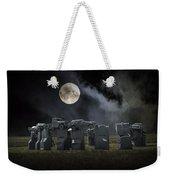 Car Henge Under The Moonlight Weekender Tote Bag