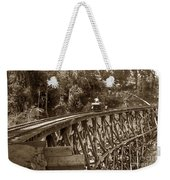Car On A Wooden Railroad Trestle Circa 1916 Weekender Tote Bag