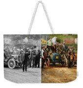 Car - Race - The End Of A Long Journey 1906 - Side By Side Weekender Tote Bag