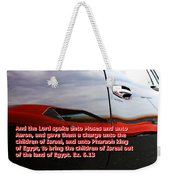 Car Reflection With Text 4 Weekender Tote Bag