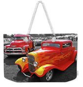 Car Show Fever - 54 Chevy With A 32 Ford Coupe Hot Rod Weekender Tote Bag