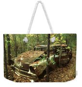 Car Wreck In The Forest Weekender Tote Bag
