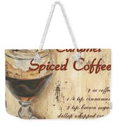 Caramel Spiced Coffee Weekender Tote Bag