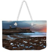 Fort In Carcavelos Beach Weekender Tote Bag