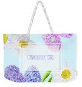Card With Spring Flowers Weekender Tote Bag