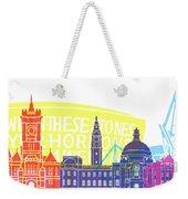 Cardiff Skyline Pop Weekender Tote Bag