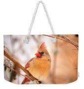 Cardinal Bird Female Weekender Tote Bag