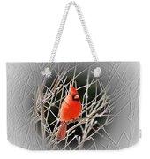 Cardinal Centered Weekender Tote Bag