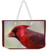 Cardinal Closeup D-bn2 Weekender Tote Bag