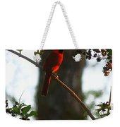 Cardinal In The Crepe Myrtle Weekender Tote Bag