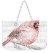 Cardinal On Joy To The World Weekender Tote Bag