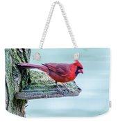 Cardinal Perched Weekender Tote Bag
